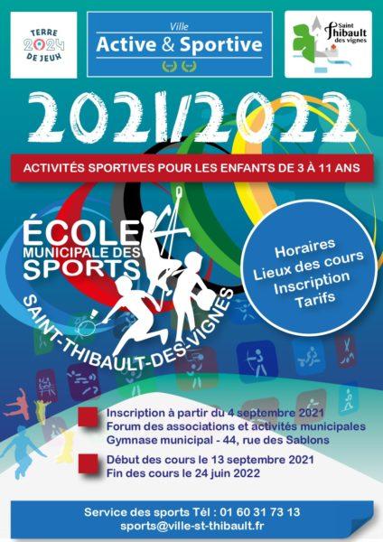 Plaquette Ecole des sports 2021-2022